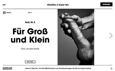 Safy Sex: Erigierter Penis mit Hand und Kondom